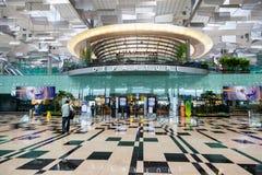 Départ Hall d'aéroport international de Singapour Changi Photo libre de droits