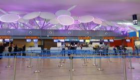Départ Hall dans l'aéroport de KLIA, Malaisie Photo libre de droits