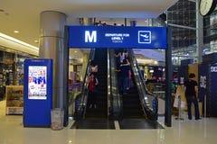 Départ pour le niveau 1 Tokyo sur le terminal 21, un complexe mélangé d'utilisation sur la route de Sukhumvit, Bangkok, Thaïlande Photos libres de droits