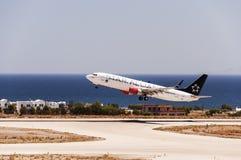 Départ SAS de Santorini Photographie stock libre de droits