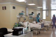 Département de la cardiologie de secours de l'institut de recherche de St Petersburg de la médecine de secours images stock