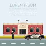 Département de Police Banner2 Photos libres de droits