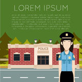 Département de Police Banner3 Images libres de droits