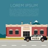 Département de Police Banner1 Photographie stock