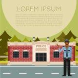 Département de Police Banner3 Illustration Libre de Droits