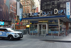 Département de Police de New York, NYPD, Times Square, NYC, Etats-Unis Photos stock