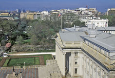 Département des Etats-Unis du trésor et de la Maison Blanche, Washington, C.C photographie stock libre de droits