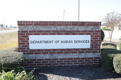 Département des services humains photographie stock libre de droits
