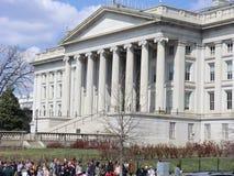 Département des USA du bâtiment de trésor photographie stock libre de droits