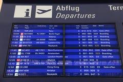 Départs d'aéroport Photo stock