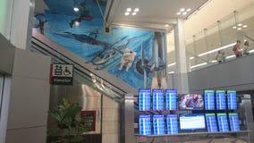 Départs internationaux de Philadelphie avec l'astronaute Photographie stock