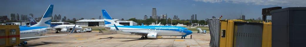 Départs panorama, Argentine d'aéroport de Mendoza Images stock
