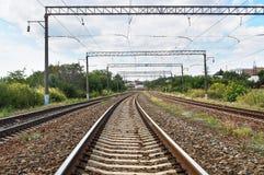 Dépassement de chemin de fer Photographie stock