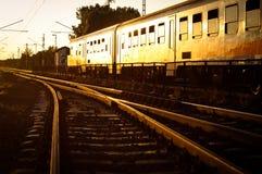 Dépassement de train Photos stock