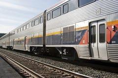 Dépassement de train Photographie stock libre de droits