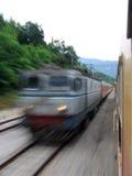 Dépassement de train rapide Image libre de droits