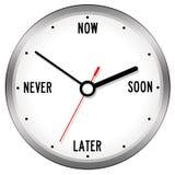 Dépassement du temps illustration stock