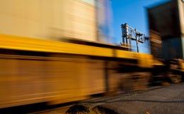 Dépassement du train Image stock