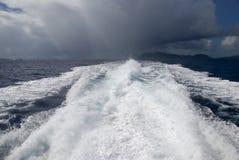 Dépasser la tempête Images stock