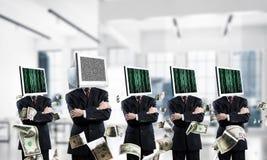 Dépendance d'affaires sur des technologies modernes Photo stock
