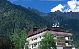Dépendance dans les Alpes Photo libre de droits