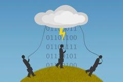 Dépendance de calcul de nuage photo libre de droits