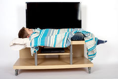 Dépendance de TV dans l'enfance Photo libre de droits