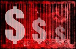 Dépenses de consommation réduites rouges illustration libre de droits