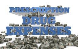 Dépenses de médicament délivré sur ordonnance - soins de santé Photographie stock