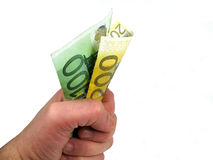 Dépensez l'argent Photographie stock