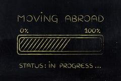 Déplacement à l'étranger du chargement de barre de progrès Images stock