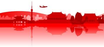 Déplacement autour de l'Asie de l'Est illustration libre de droits