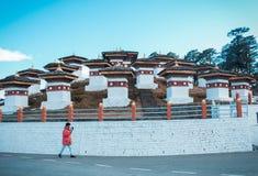 Déplacement autour de l'héritage au Bhutan images libres de droits