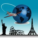 Déplacement autour du monde Image stock