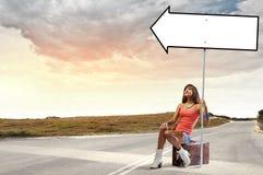 Déplacement d'Autostop Image stock