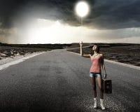 Déplacement d'Autostop Photos libres de droits