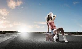 Déplacement d'Autostop Photo libre de droits