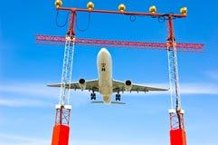 Déplacement d'avion d'avion de ligne Photos libres de droits