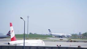 Déplacement d'avions banque de vidéos