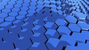 Déplacement d'entreprise de fond d'hexagones banque de vidéos
