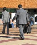Déplacement d'hommes d'affaires Image libre de droits