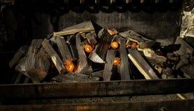 Déplacement de flammes du feu photo stock