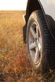 Déplacement en jeep. Image libre de droits