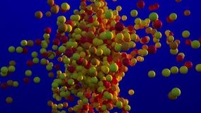 Déplacement jaune et orange de boules banque de vidéos