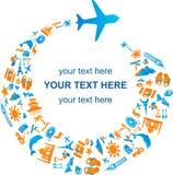 Déplacement par avion Photo libre de droits