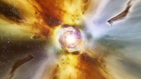 Déplacement par des gisements d'étoile dans l'espace lointain - horizon d'événement 0105 HD illustration libre de droits