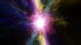 Déplacement par des gisements et des galaxies d'étoile dans l'espace lointain illustration stock