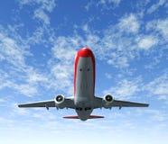 Déplacement par le ciel d'avion Images stock