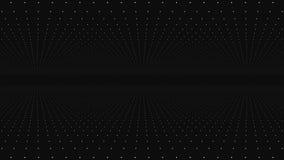 Déplacement par le trellis abstrait de matrice de point de fractale La place infinie mobile a tordu le tunnel des fusées brillant illustration stock