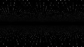 Déplacement par le trellis abstrait de matrice de point de fractale La place infinie mobile a tordu le tunnel des fusées brillant illustration libre de droits